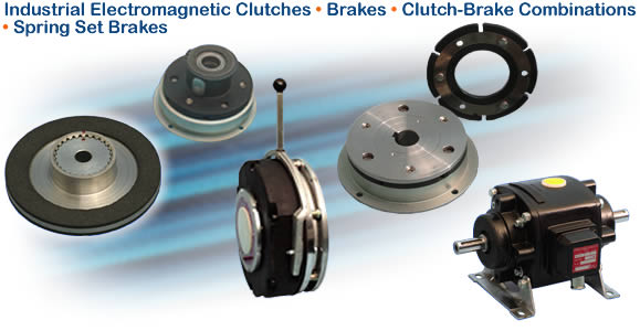Industrial Electromagnetic Clutches - Brakes - Clutch-Brake Combinations - Spring Set Brakes